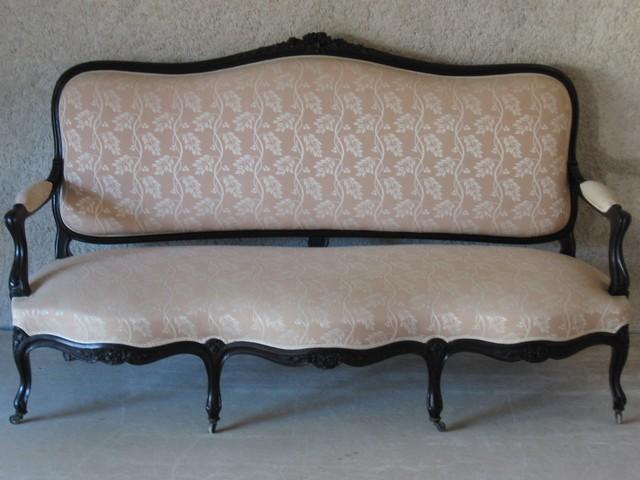 Canapé 3 places d\'époque Napoléon III - d\'Or et d\'Avant