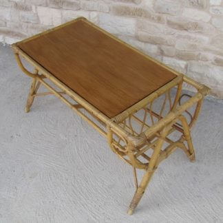 table basse rotin porte revue