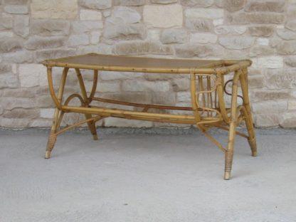 table basse rotin porte revue