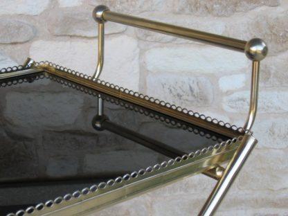 desserte bar verre métal