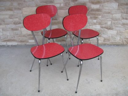 formica chaise rouge