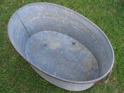 baignoire ancienne zinc