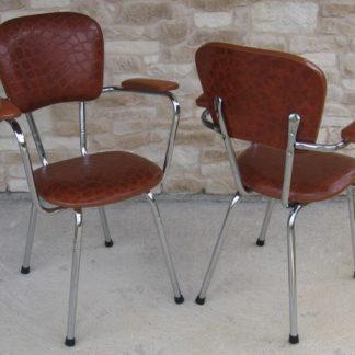 fauteuil skaï vintage l'auvergnate