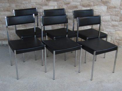 girsberger chaise chrome skaï