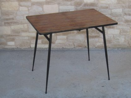 table formica bambou jungle pliante