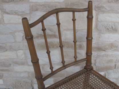 chaise napoleon3 bambou cannage