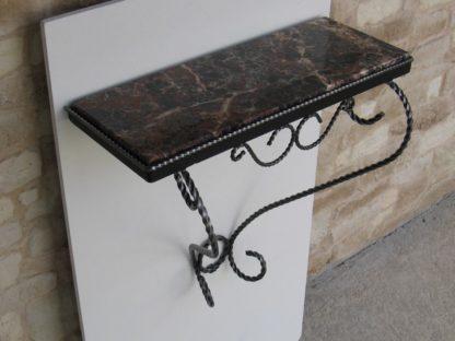 console marbre brèche fer forgé