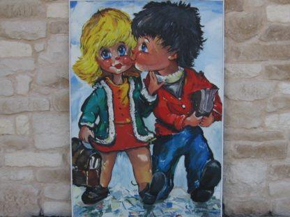 poulbot peinture vintage