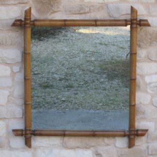 miroir bambou ancien