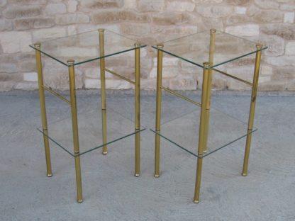 sellette etagere verre metal